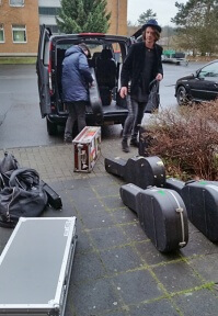 Tourbus packen